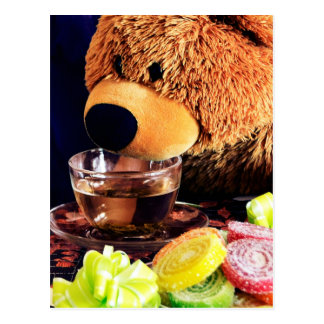 Teddy Bear Tea Party Postcard