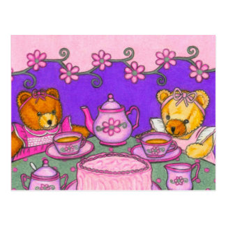 Teddy Bear Tea Party Postcard Invitations