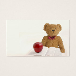 Teddy bear teacher business card