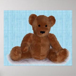 Teddy Bear (teal) Poster