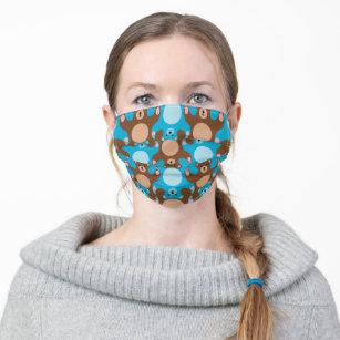 Teddy Bear Tesselation Blue Brown Kid face Mask