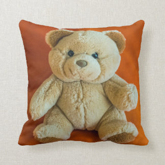 Teddy bear throw cushion
