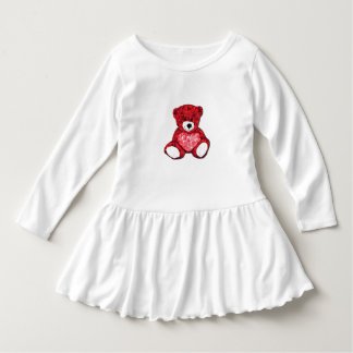 Teddy Bear Toddler Ruffle Dress