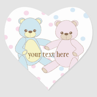 Teddy Bear Twins Sticker
