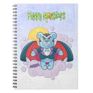 Teddy bear vampire notebook