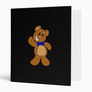 Teddy Bear Waving Vinyl Binders