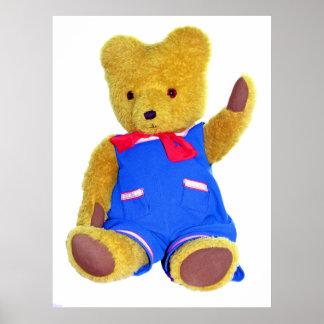 Teddy Bear Waving Posters