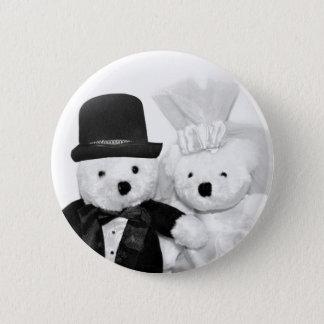 Teddy Bear Wedding 2 Inch Round Button