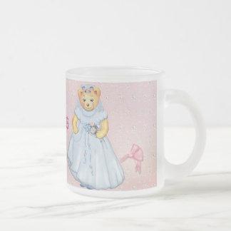Teddy Bear Wedding - Customize Frosted Glass Coffee Mug