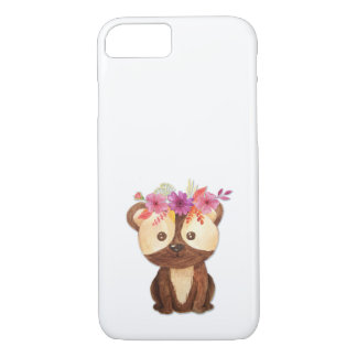 Teddy Bear With Flower Crown iPhone 8/7 Case