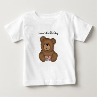 Teddy Bear with Flowers Infant T-Shirt