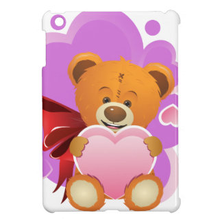 Teddy Bear with Heart 2 Cover For The iPad Mini