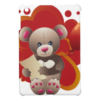 Teddy Bear with Heart 3 Case For The iPad Mini