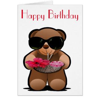 Teddy Bear With Sunglasses Greeting Card