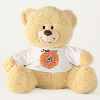 Teddy Bear - Zinnia Bear - Orange Zinnia