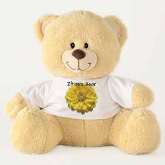 Teddy Bear - Zinnia Bear - Yellow Zinnia