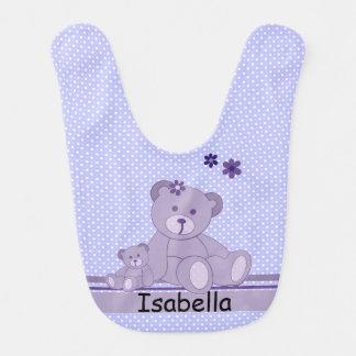Teddy Bears and Polka Dots Bib