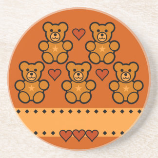 Teddy Bears coaster, customize Coaster