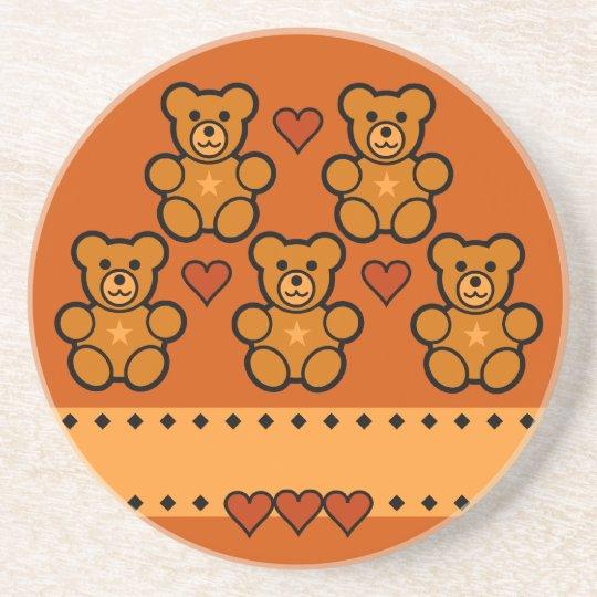 Teddy Bears coaster, customize Coaster