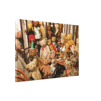 Teddy Bears Collectors Paradise Canvas Prints