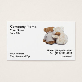Teddy Bears hugging each other Business Card