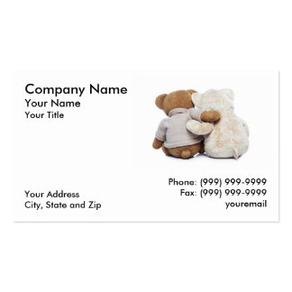 Teddy Bears hugging each other Business Card Templates