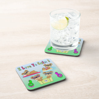 Teddy Bears I Love To Swim Drink Coaster Set (6)