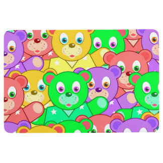 TEDDY BEARS MAT, Cute & Bright Kids Print Floor Mat