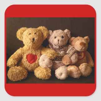 TEDDY BEARS (on multi products) Square Sticker