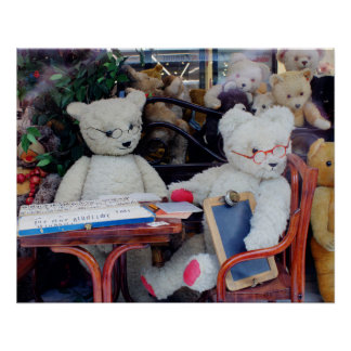 Teddy Bears Reading Lessons Perfect Poster