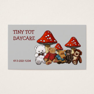 Teddy Bears, Stuffed Animals DAYCARE BUSINESS CARD