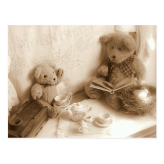 Teddy Bears Tea Postcard