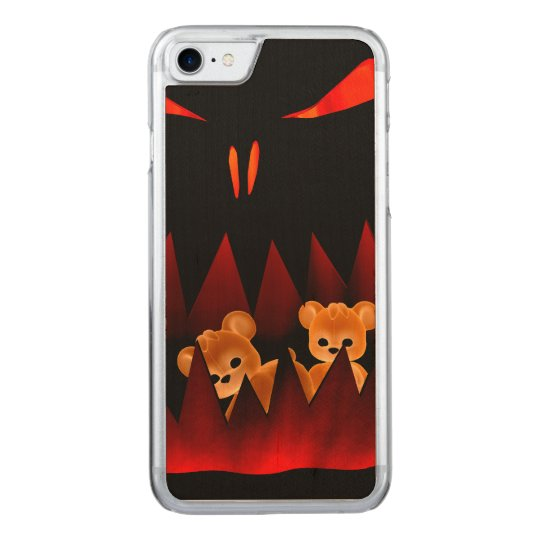 Teddy Bearz Halloween #3 Carved iPhone 8/7 Case