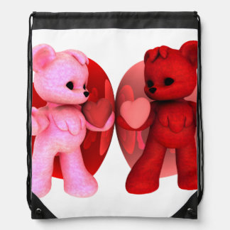 Teddy Bearz Valentine Cinch Bags