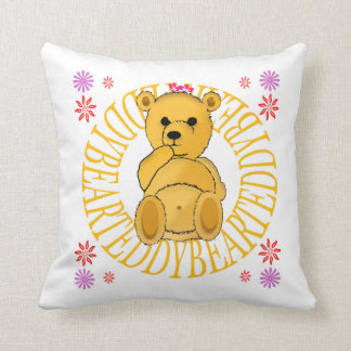 Teddy Brown Bear Throw Pillow
