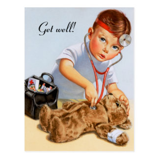 Teddy Checkup Postcard