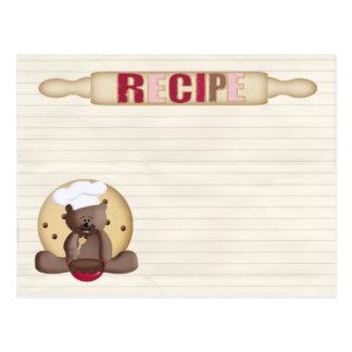 teddy cookie recipe card