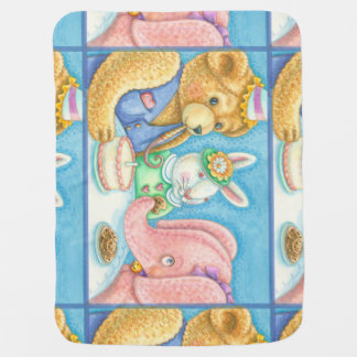 Teddy & Friends SOFT BABY BLANKET *Personalize
