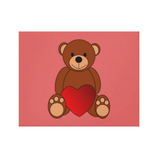 Teddy Love Canvas Print