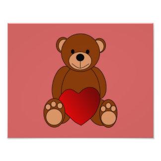 Teddy Love Photo Print