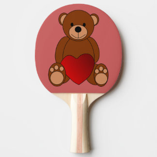 Teddy Love Ping Pong Paddle