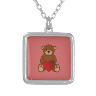 Teddy Love Silver Plated Necklace