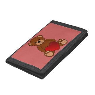 Teddy Love Tri-fold Wallet