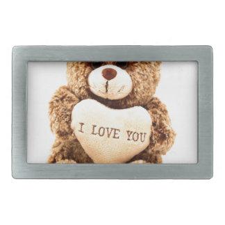 Teddy Love Valentine's Day Greeting Card Soft Toy Belt Buckle