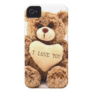 Teddy Love Valentine's Day Greeting Card Soft Toy iPhone 4 Cover