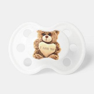 Teddy Love Valentine's Day Greeting Card Soft Toy Pacifier