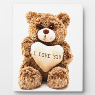 Teddy Love Valentine's Day Greeting Card Soft Toy Plaque