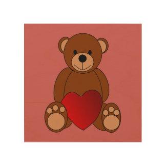 Teddy Love Wood Wall Art