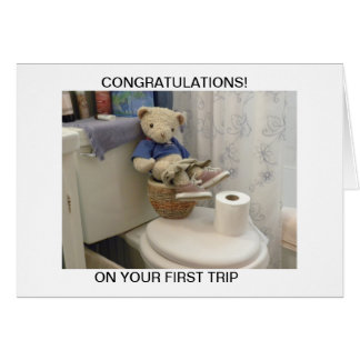 Teddy On Potty Card
