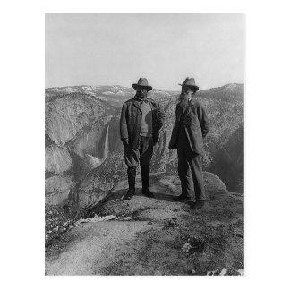 Teddy Roosevelt and John Muir  in Yosemite Postcard